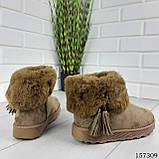 """Уггі жіночі хакі """"Letyo"""" еко замша, Зимові жіночі чоботи. Взуття жіноче., фото 4"""
