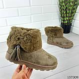 """Уггі жіночі хакі """"Letyo"""" еко замша, Зимові жіночі чоботи. Взуття жіноче., фото 5"""