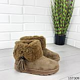 """Уггі жіночі хакі """"Letyo"""" еко замша, Зимові жіночі чоботи. Взуття жіноче., фото 6"""