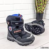 Дитячі, підліткові зимові черевики на липучках, чорного кольору з еко шкіри, всередині теплий еко хутро., фото 4