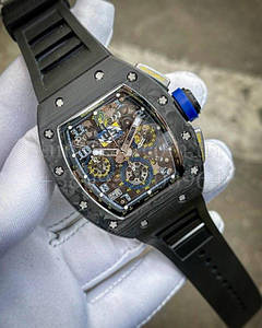 Мужские наручные часы Ричард Миль (реплика)  RM 011 Хроно копия