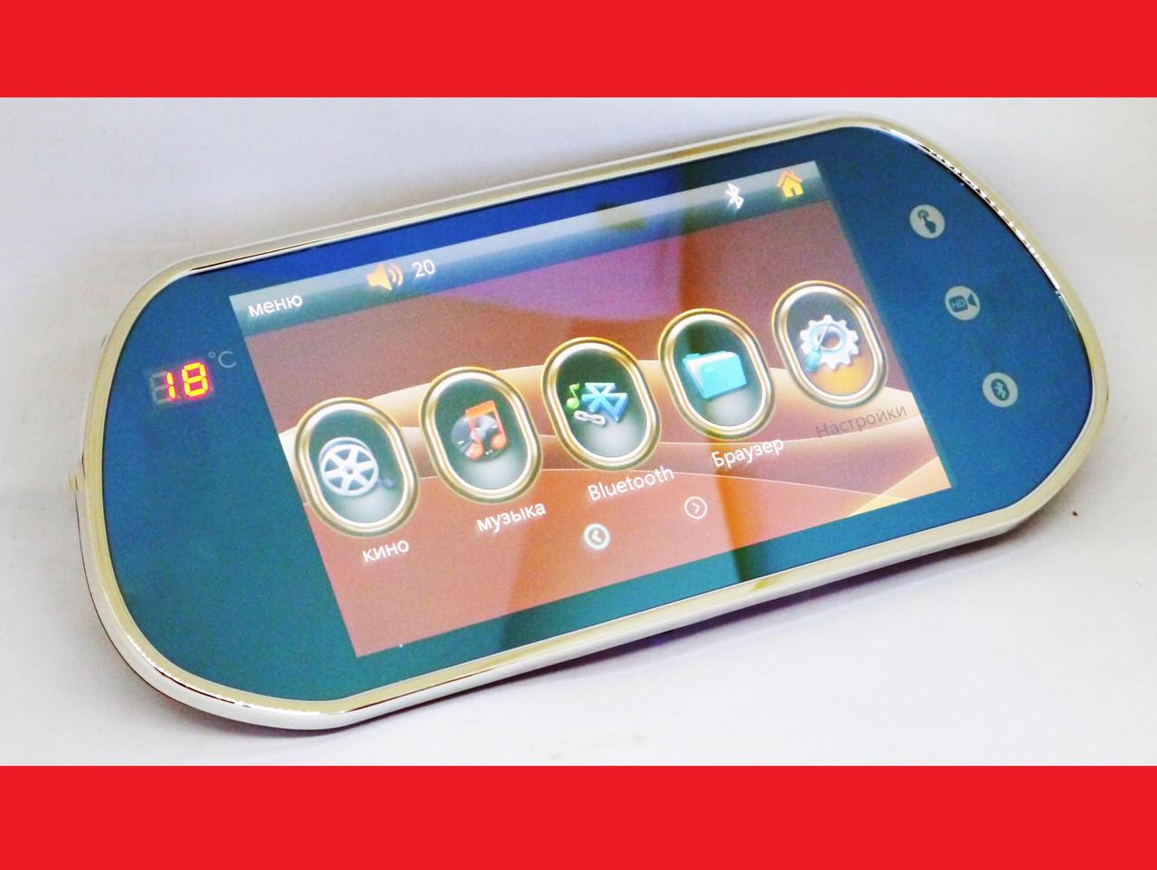 7'' Монитор-зеркало для камеры заднего вида Full HD MP5 Bluetooh + USB
