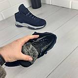 Чоловічі зимові черевики з натуральної шкіри, всередині натуральна шерсть. Чоловіче взуття, фото 7