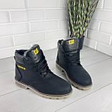 """Мужские ботинки зимние из натуральной кожи, внутри натуральная шерсть. В стиле """"CAT"""", фото 2"""