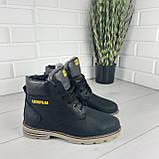 """Мужские ботинки зимние из натуральной кожи, внутри натуральная шерсть. В стиле """"CAT"""", фото 4"""