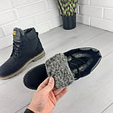 """Мужские ботинки зимние из натуральной кожи, внутри натуральная шерсть. В стиле """"CAT"""", фото 5"""