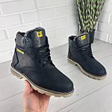 """Мужские ботинки зимние из натуральной кожи, внутри натуральная шерсть. В стиле """"CAT"""", фото 7"""