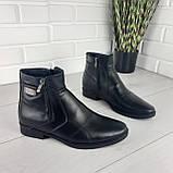 Мужские ботинки зимние из натуральной кожи, внутри натуральная шерсть. Чоловіче взуття, фото 3