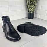 Мужские ботинки зимние из натуральной кожи, внутри натуральная шерсть. Чоловіче взуття, фото 4