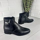 Мужские ботинки зимние из натуральной кожи, внутри натуральная шерсть. Чоловіче взуття, фото 5