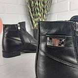 Мужские ботинки зимние из натуральной кожи, внутри натуральная шерсть. Чоловіче взуття, фото 6