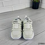 Кросівки дитячі, білі еко шкіра, кеди дитячі, мокасини дитячі, фото 5