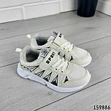Кросівки дитячі, білі еко шкіра, кеди дитячі, мокасини дитячі, фото 6