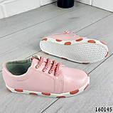 Кросівки дитячі, пудрові еко шкіра, кеди дитячі, мокасини дитячі, фото 4