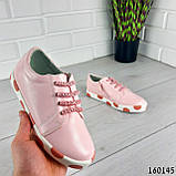 Кросівки дитячі, пудрові еко шкіра, кеди дитячі, мокасини дитячі, фото 6