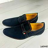 Туфлі чоловічі чорні еко замша, мокасини чоловічі, взуття повсякденне чоловіче, фото 4