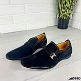 Туфлі чоловічі чорні еко замша, мокасини чоловічі, взуття повсякденне чоловіче, фото 7