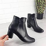 Ботинки женские демисезонные черные. Ботильоны на каблуке. Обувь женская. Обувь деми. Натуральная кожа, фото 6