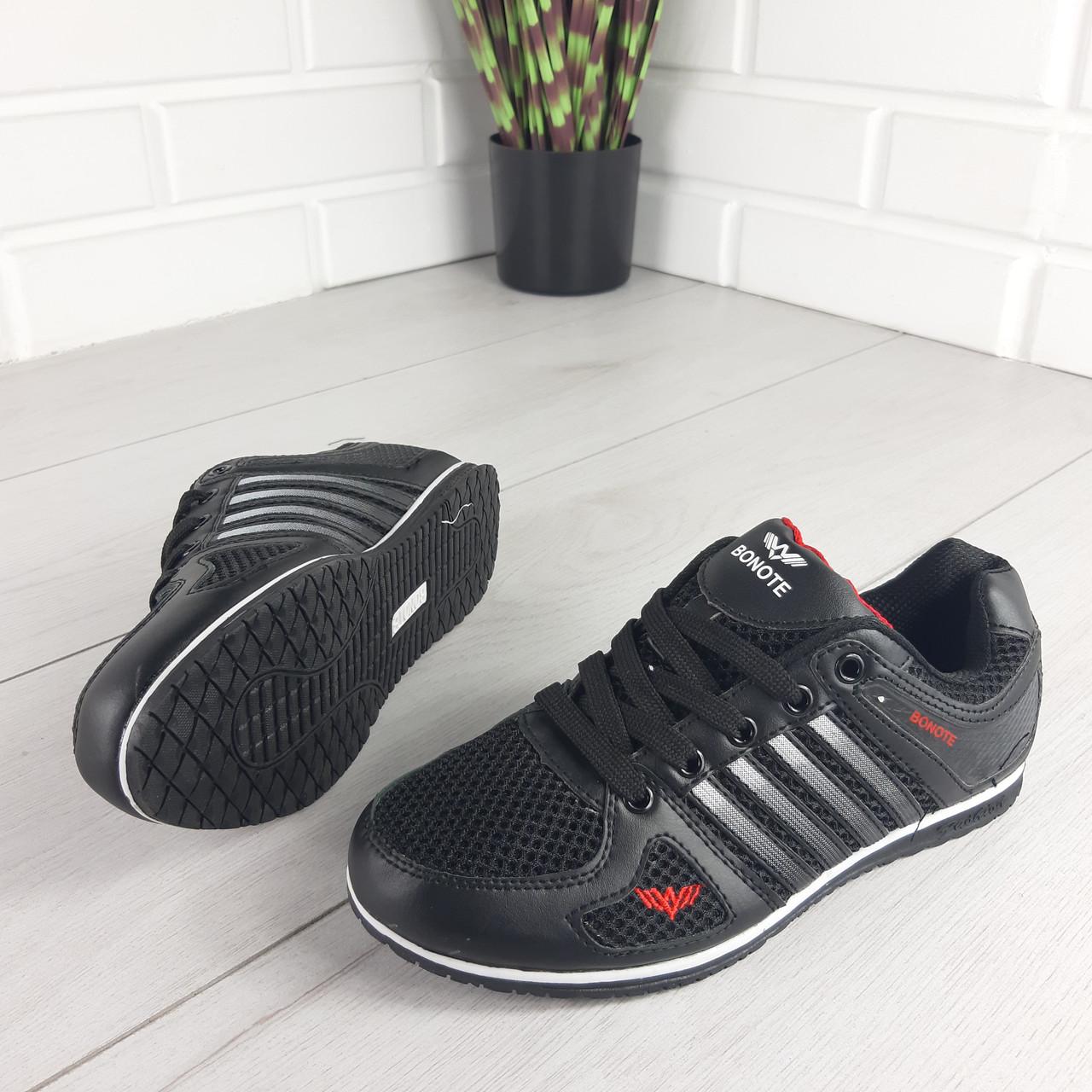 Кросівки жіночі, чорні кросівки на шнурках, текстиль + еко шкіра