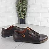 Туфли мужские, мокасины мужские, повседневные туфли на шнурках, коричневые из эко кожи, фото 3