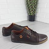 Туфли мужские, мокасины мужские, повседневные туфли на шнурках, коричневые из эко кожи, фото 4