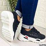 Женские кроссовки черные эко кожа. Женские кроссовки черные на белой подошве, фото 2