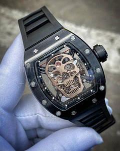 Мужские наручные часы Ричард Миль (реплика)  RM 052 Скулл Кварц копия