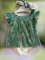 Боди платье для девочек 62 рост солоха - В ПОДАРОК (62,68,74,80,86)