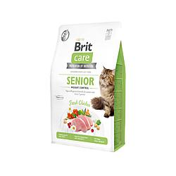 Корм Brit Care Cat GF Senior Weight Control для котів похилого віку з надмірною вагою 400 г