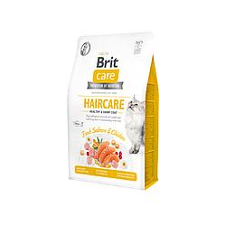 Корм Brit Care Cat GF Haircare Healthy & Shiny догляд за шкірою і шерстю котів 2 кг