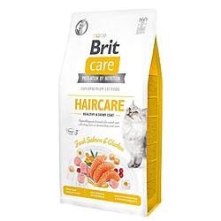 Корм Brit Care Cat GF Haircare Healthy & Shiny догляд за шкірою і шерстю котів 7 кг