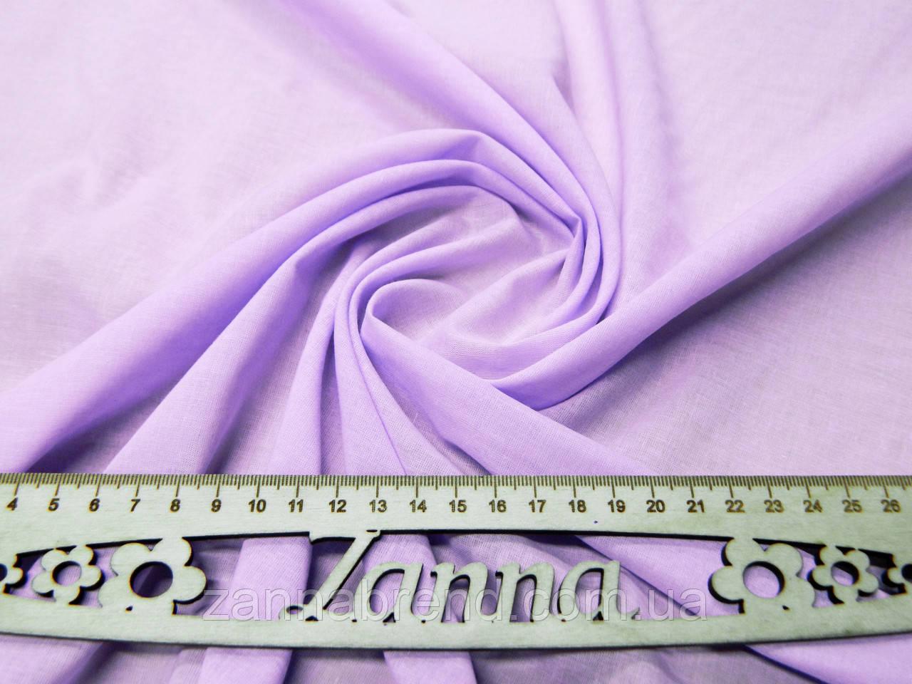 Ткань батист (подкладка) однотонный цвет сиреневый