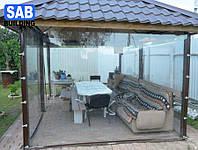Мягкие окна, гибкие окна для беседок, террас, веранд, балконов Япония Achilles наивысшее качество
