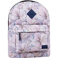 Рюкзак жіночий міський Bagland молодіжний для дівчини 17 літрів білі квіти