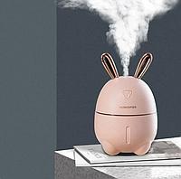 Міні Зволожувач-нічник Rabbit, Рожевий, фото 1
