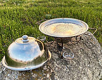 Садж блюдо для подогрева шашлыка 36см(+соусники)