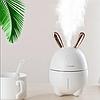 Міні Зволожувач-нічник Rabbit, Білий