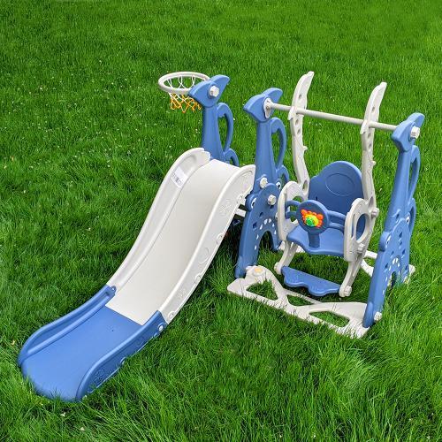 Гірка-гойдалка дитяча WM19083A-4 синя