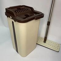 Комплект швабра з відром з віджимом Spin mop Triumf, фото 1