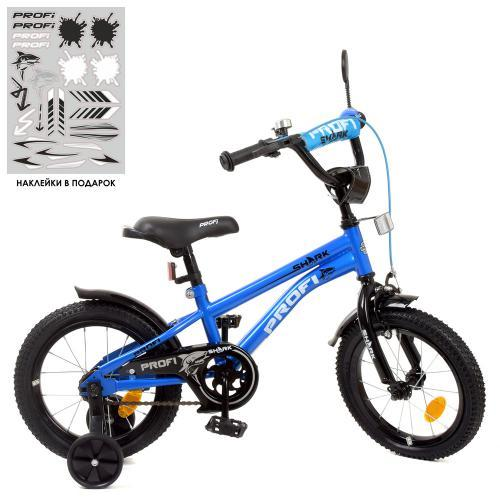 Велосипед дитячий PROF1 Y14212 Shark, синьо-чорний