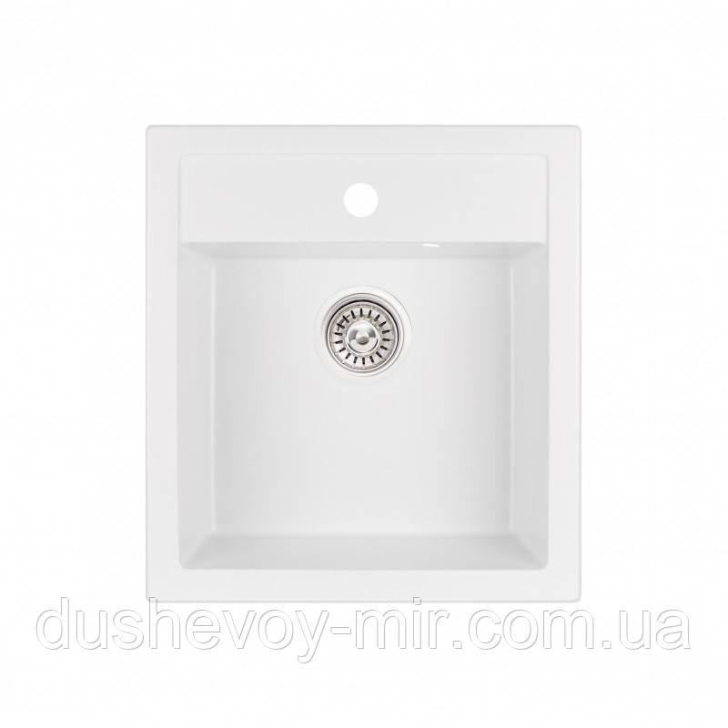 Кухонная мойка Qtap CS 5046 WHI (QT5046WHI650)