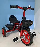 """Велосипед 3-х колёсный BS-1788 """"Best Trike"""" (1) резиновые колеса, переднее d=10'', заднее d=8'', звоночек"""
