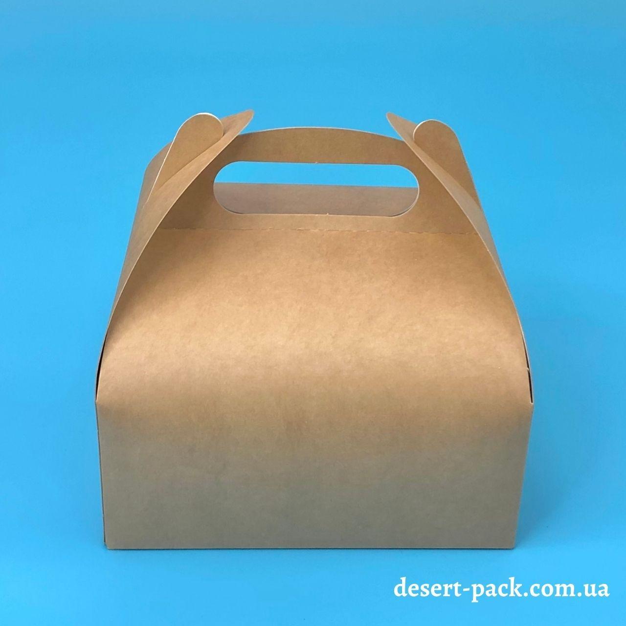 """Коробка для десертів """"Міні"""" 116х116х64 мм, крафт"""