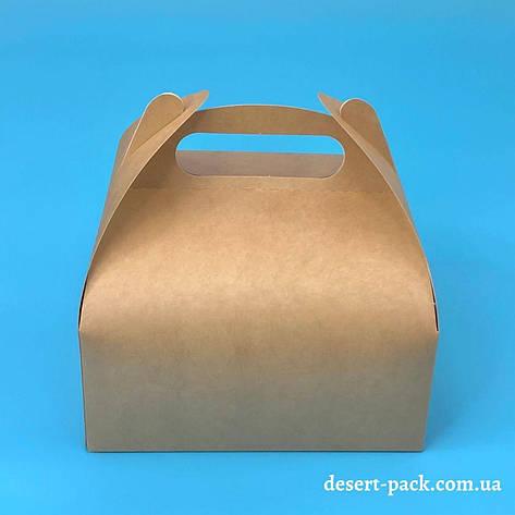 """Коробка для десертів """"Міні"""" 116х116х64 мм, крафт, фото 2"""