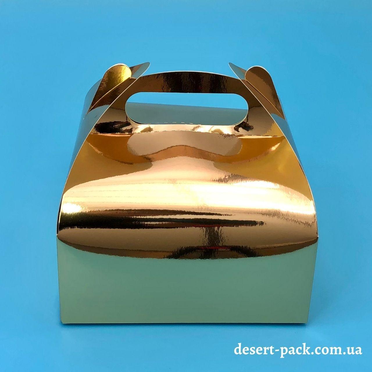 """Коробка для десертів """"Міні"""" 116х116х64 мм, золото"""