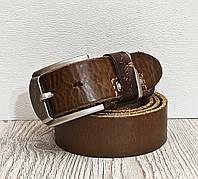 Кожаный джинсовый ремень Paul Smith светло коричневый 4 см