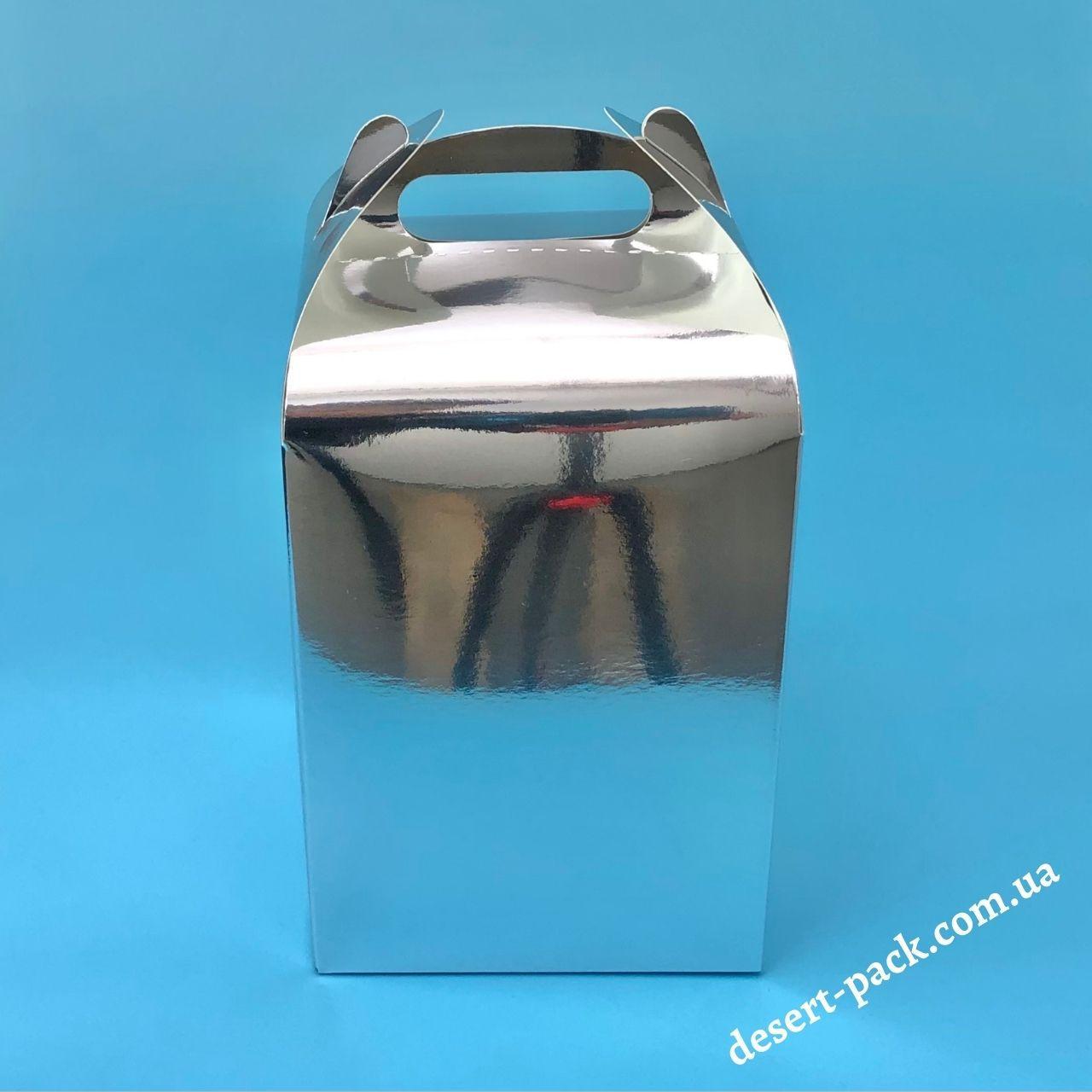"""Коробка для подарунків  """"Міді"""" 120х120х162 мм, срібло"""