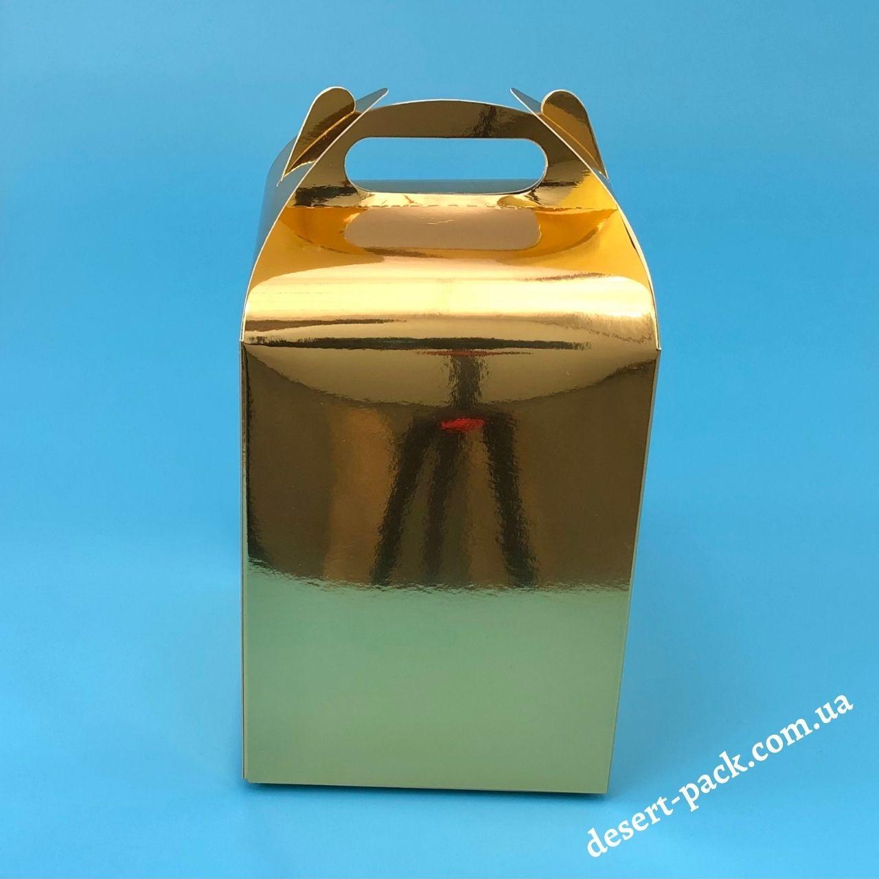 """Коробка для подарунків """"Міді"""" 120х120х162 мм, золото"""