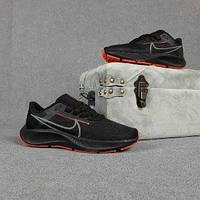 Мужские кроссовки в стиле Nike Air Zoom Pegasus чёрные с оранжевым