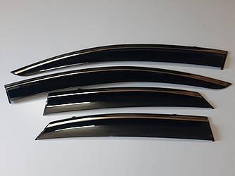 Дефлекторы окон Lexus NX 2014 - с хром молдингом нерж. сталь